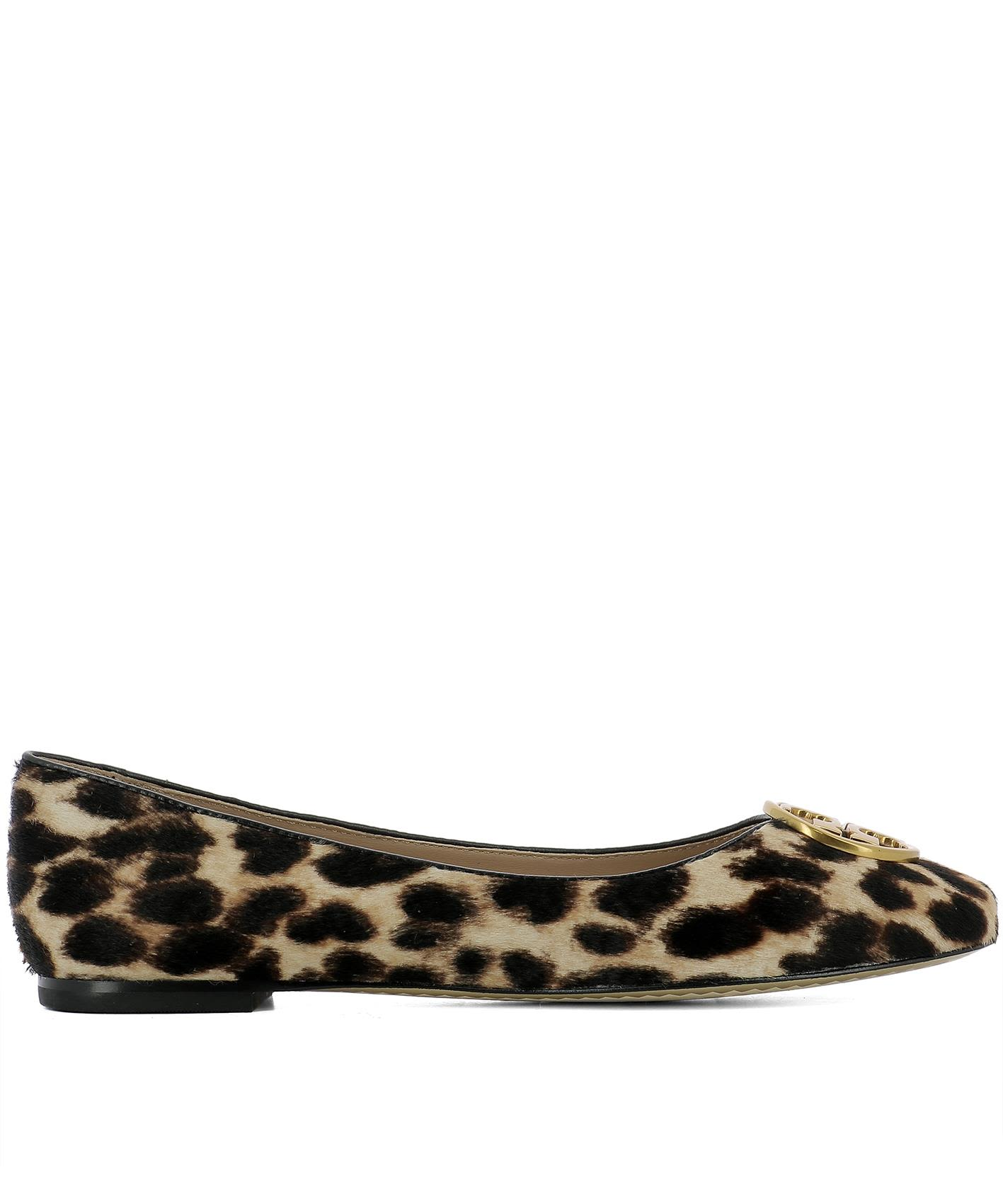Animalier Leather Ballerinas