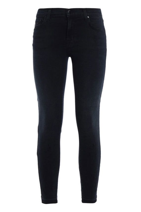 STRETCH SKINNY CROPPED TROUSERS