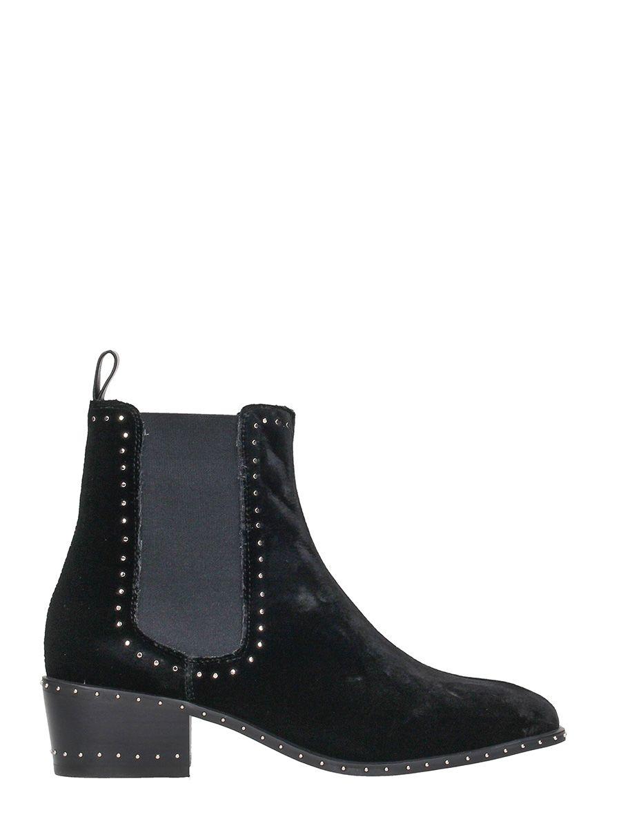 Lola Cruz Black Velvet Boots