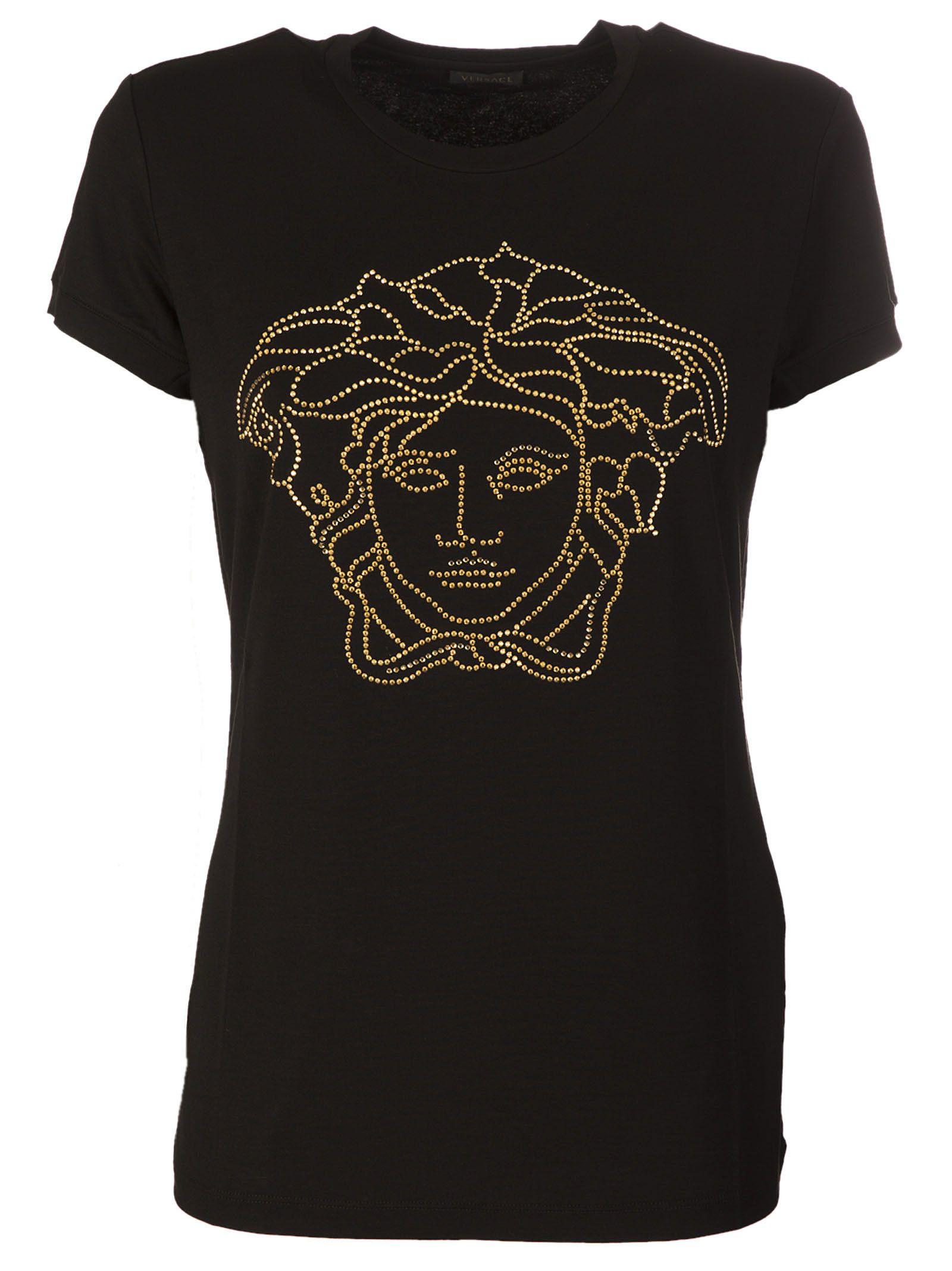 Versace Crystal-embellished Medusa T-shirt