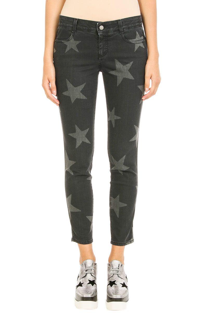 Stella McCartney Star Printed Cuff Jeans