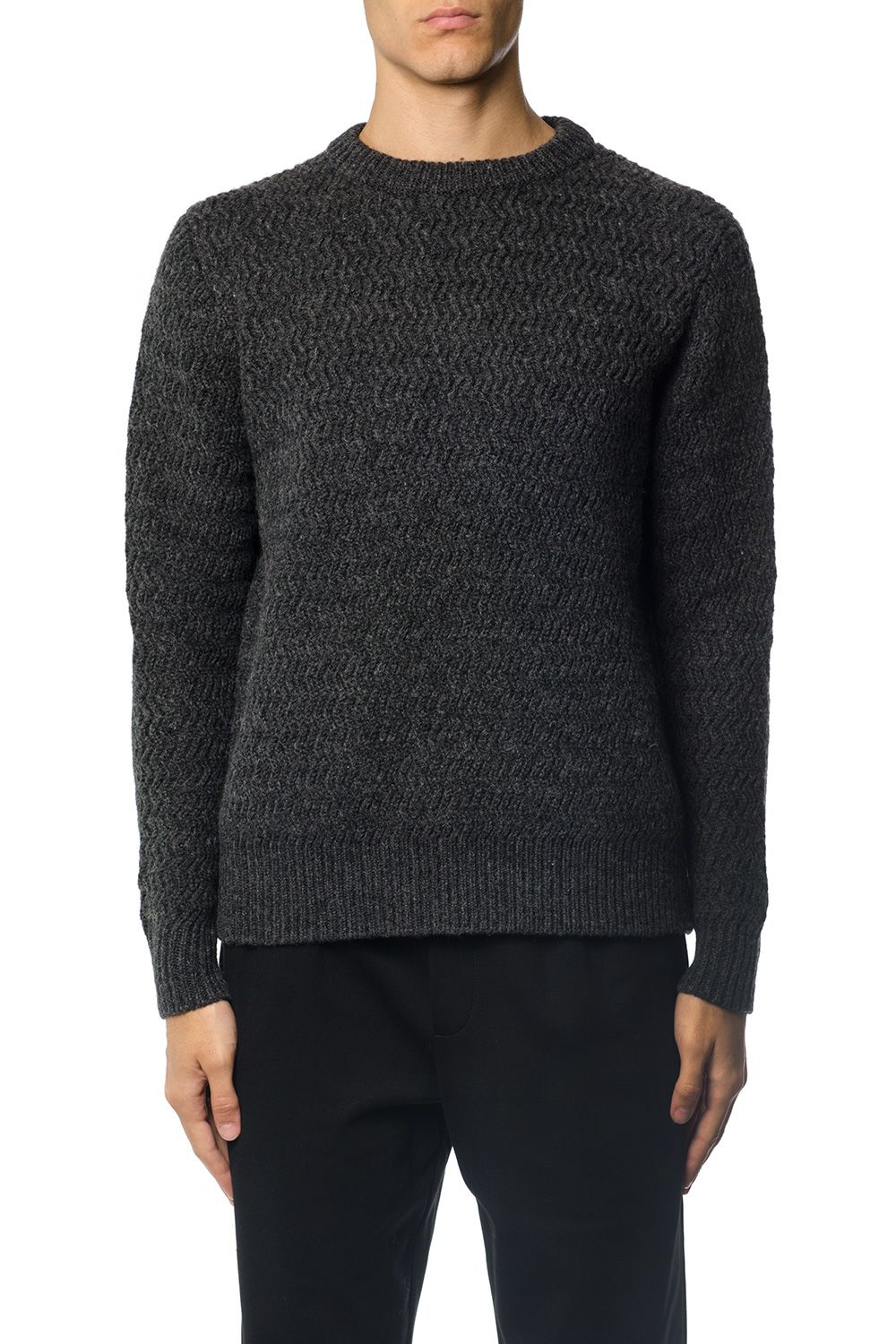 Acne Studios Melange Grey Wool Jumper