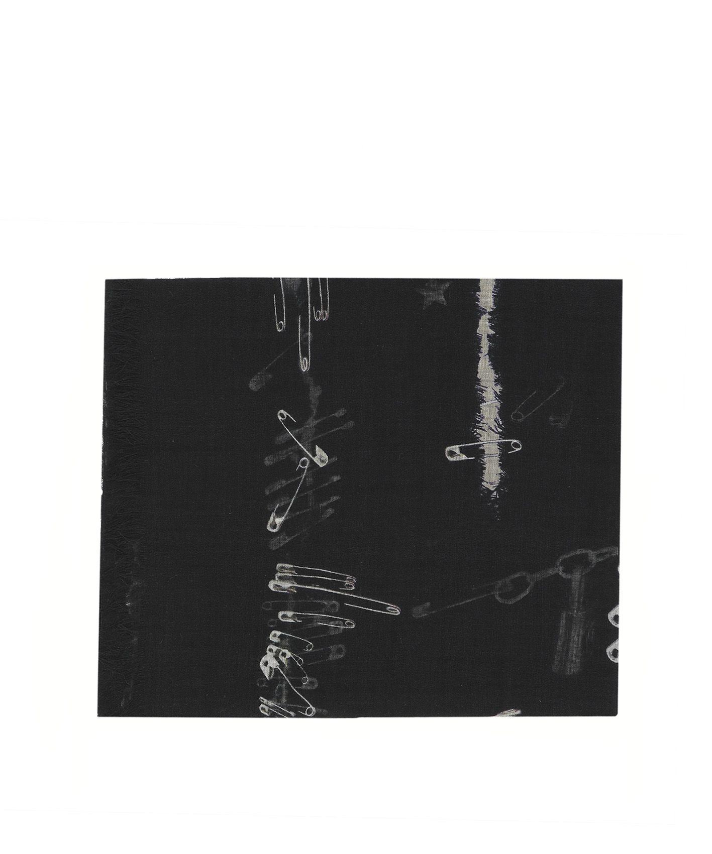 Black Silk Foulard