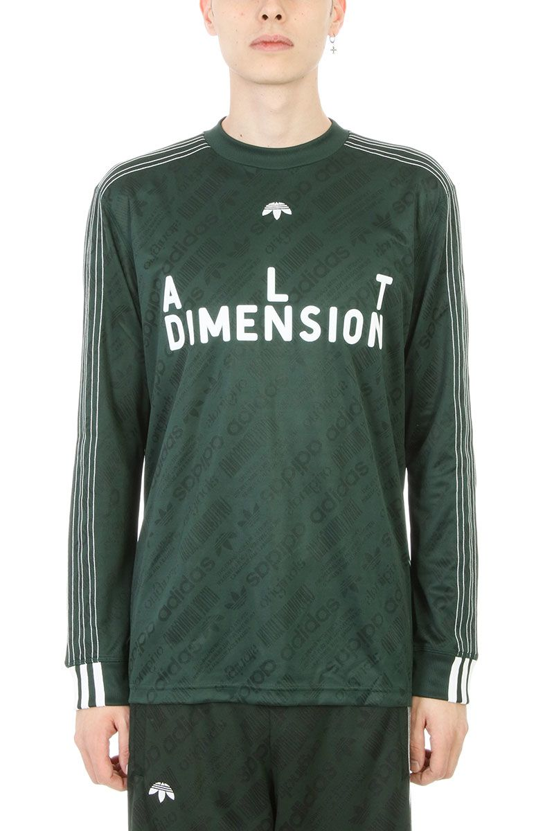 Adidas Original by Alexander Wang Soccer Green Viscose T-shirt