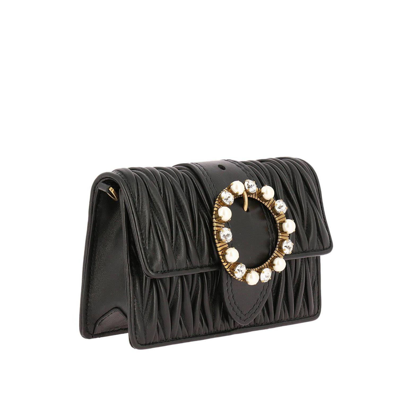 98c7dbf02cdb Miu Miu Miu Lady MatelassÉ Leather Belt Bag In Black