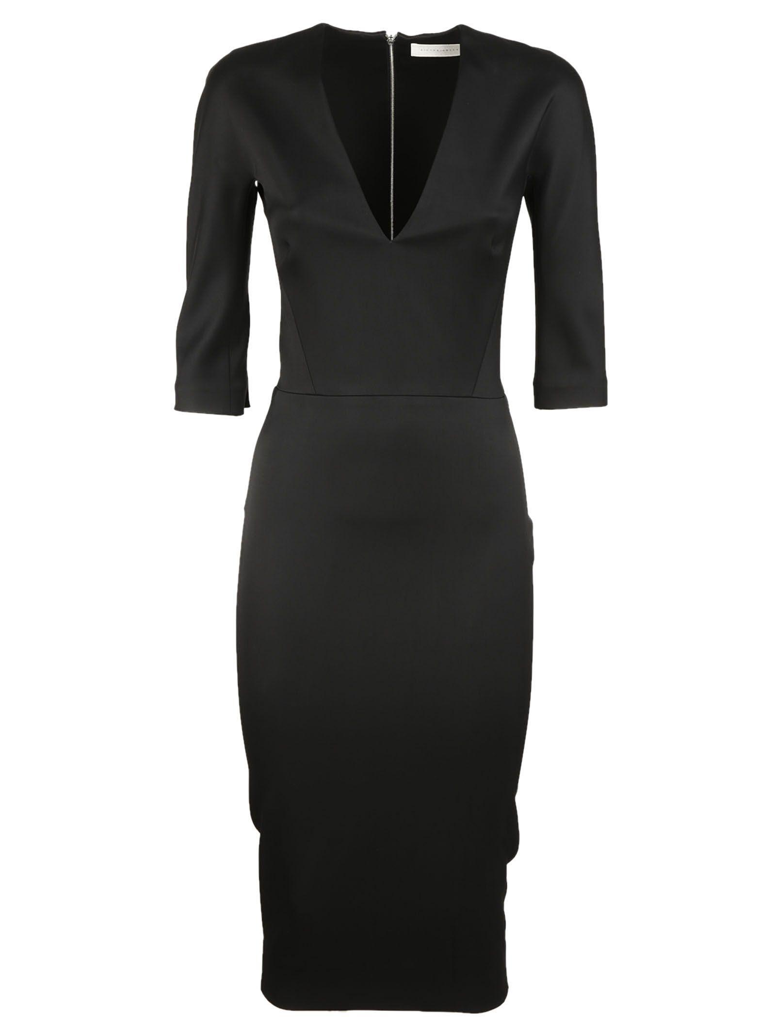 Victoria Beckham V Neck Fitted Dress