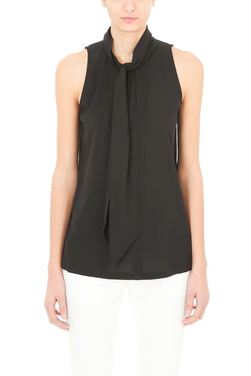 Theory Stretch Crepe Scarf Halter Top