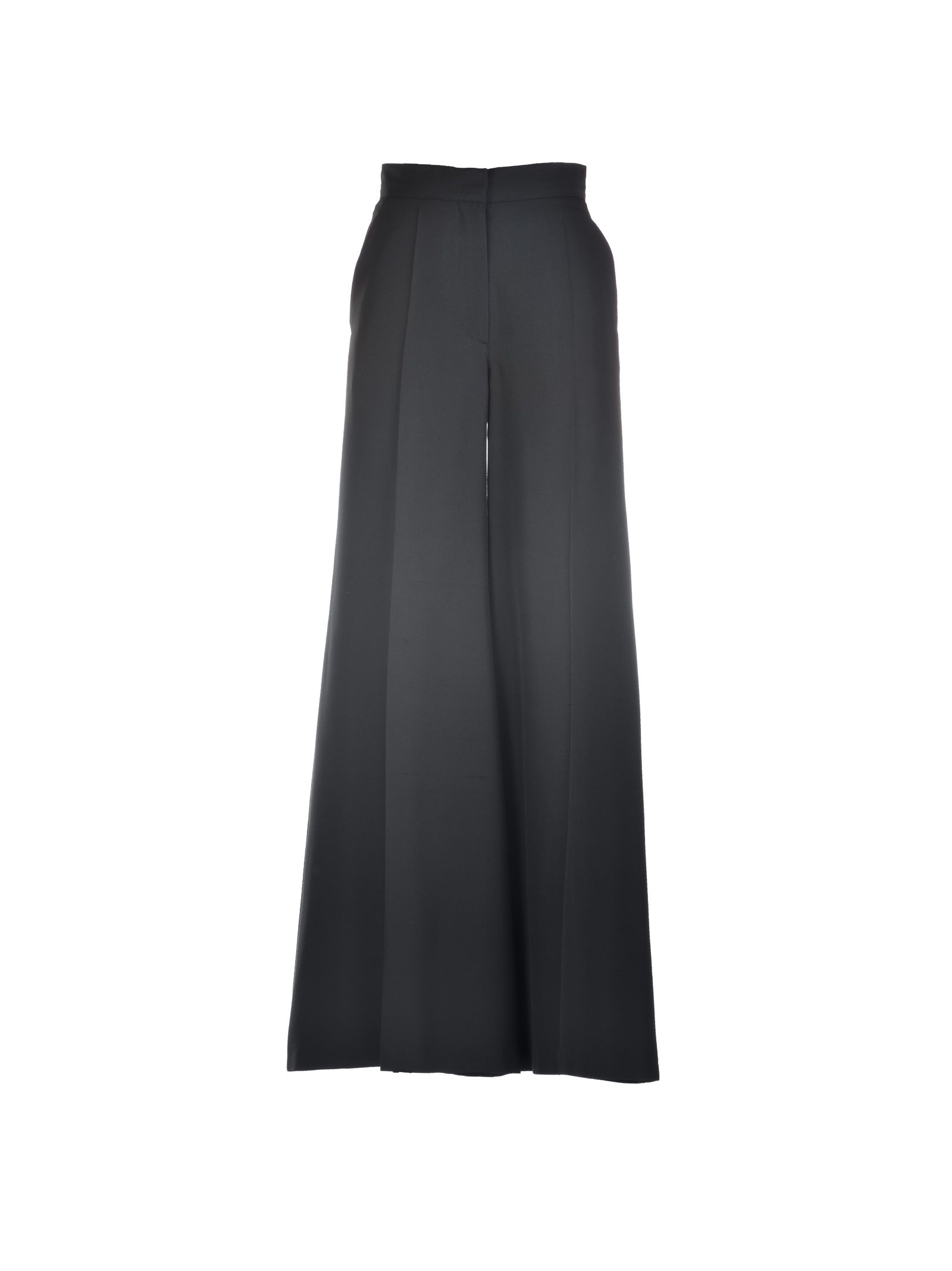 Valentino High Waisted Silk Trousers