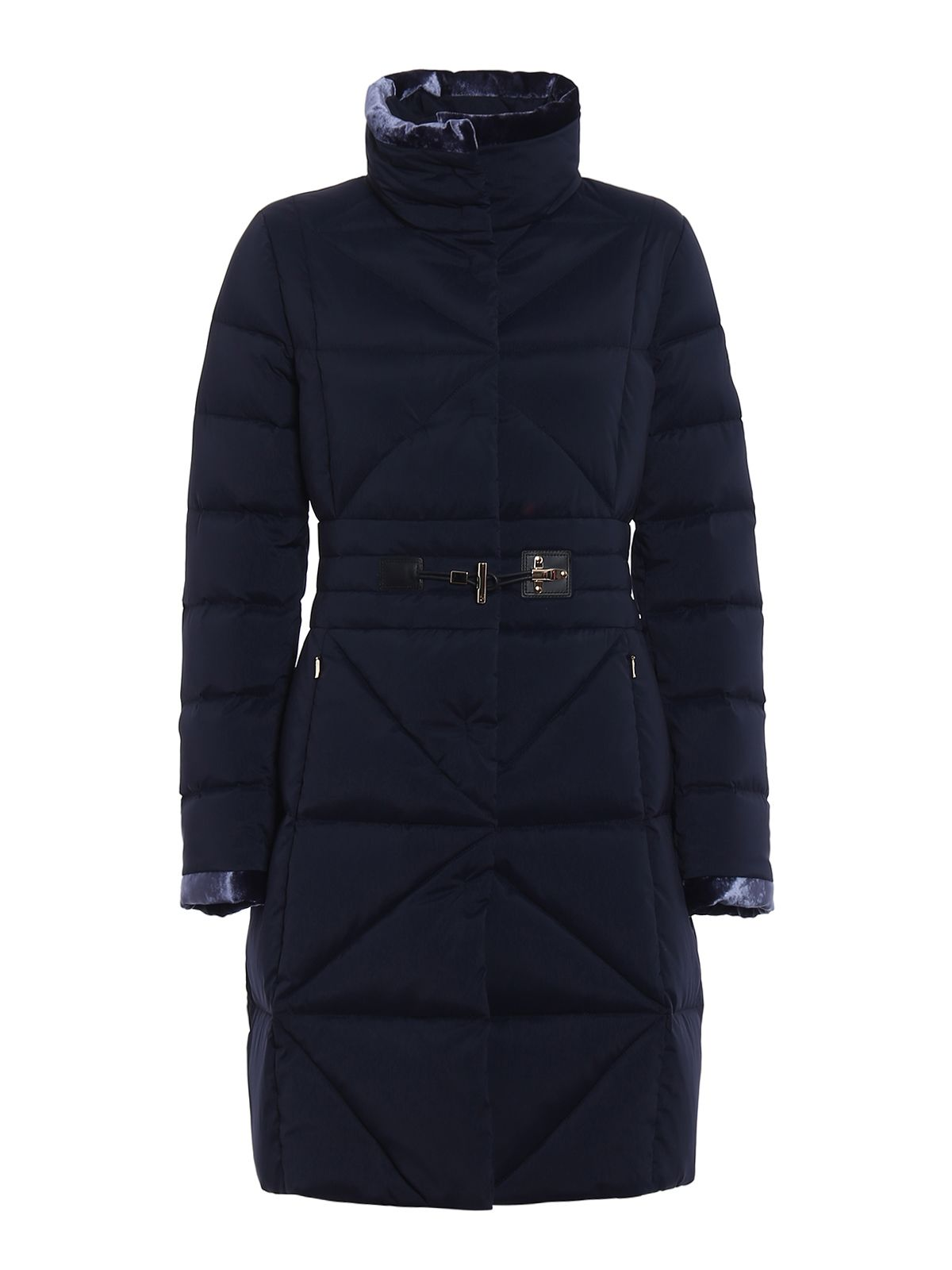 Frog Detail Fitted Padded Coat