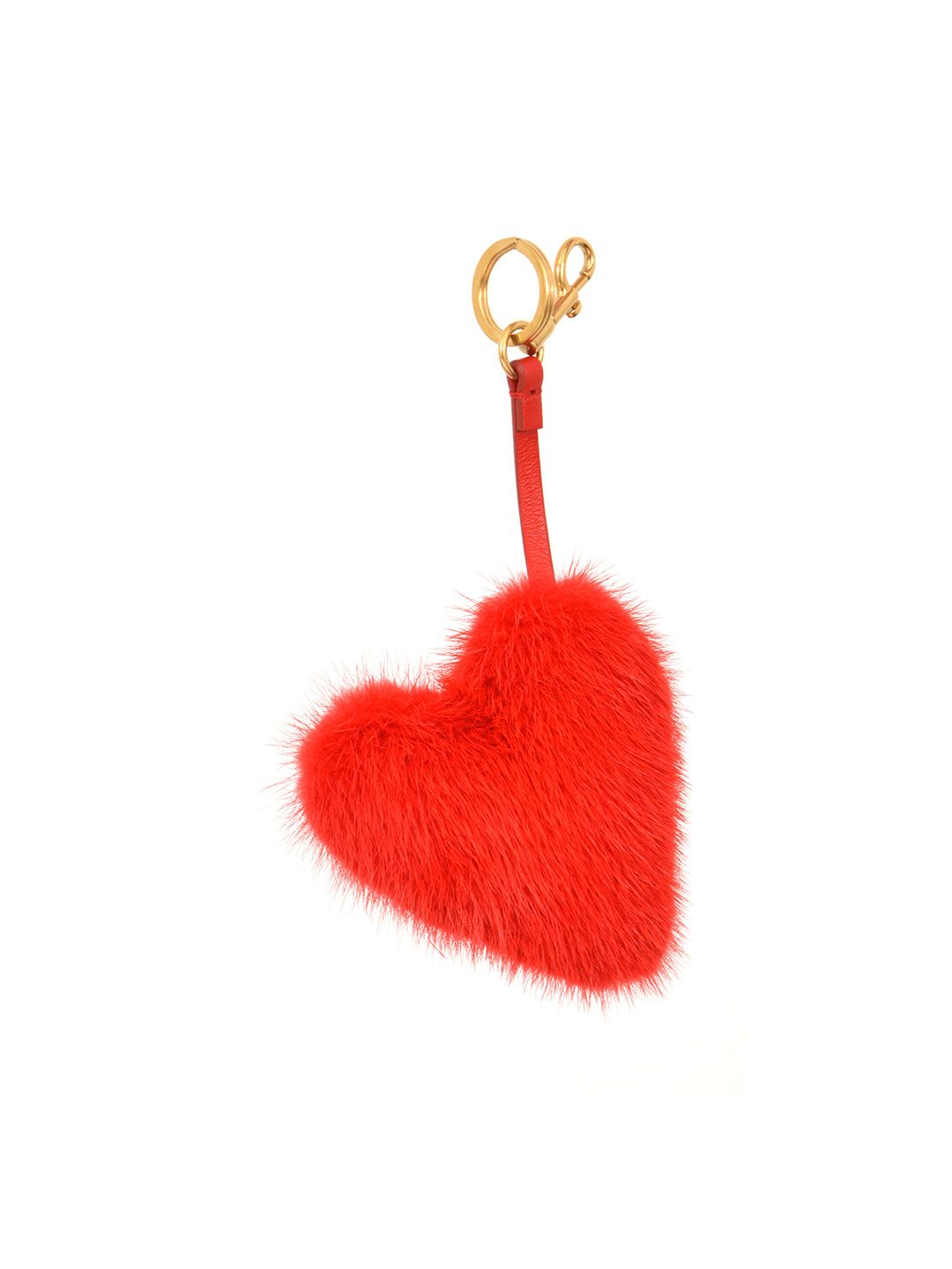 Anya Hindmarch Heart Mink Fur Charm