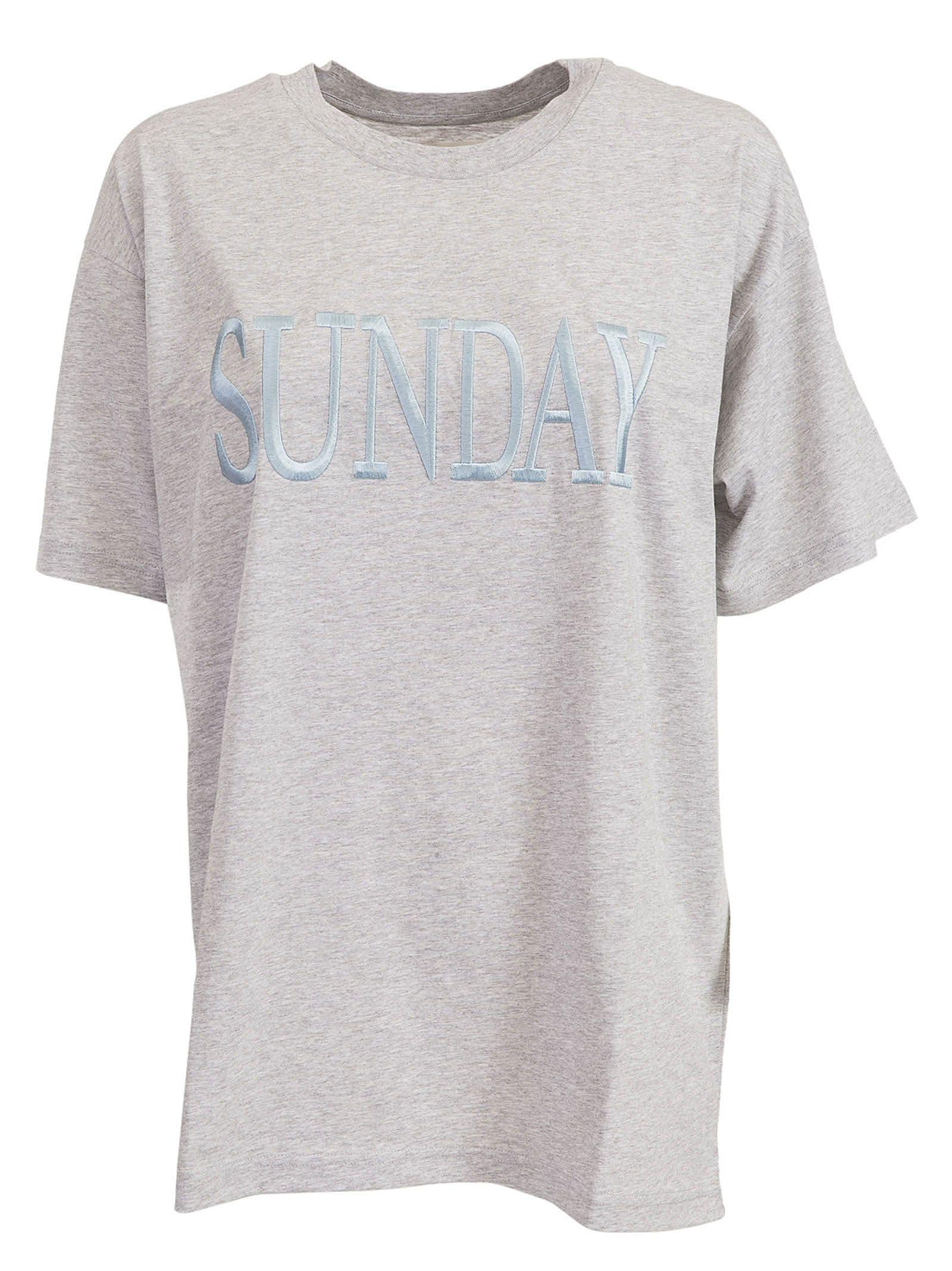 Alberta Ferretti Sunday Embroidered T-shirt