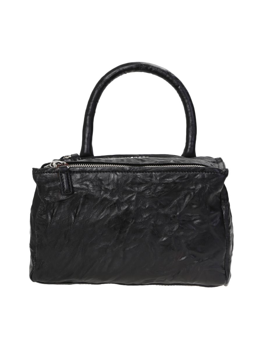 Black Washed Leather Pandora Small Bag
