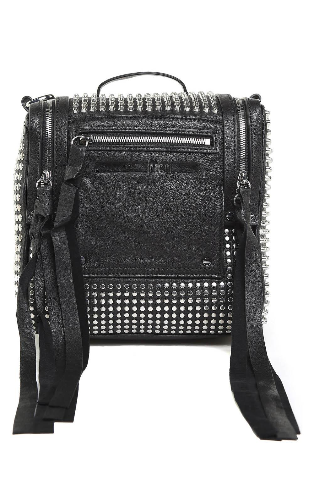 McQ Alexander McQueen Mini Loveless Convertible Studded Leather Backpack