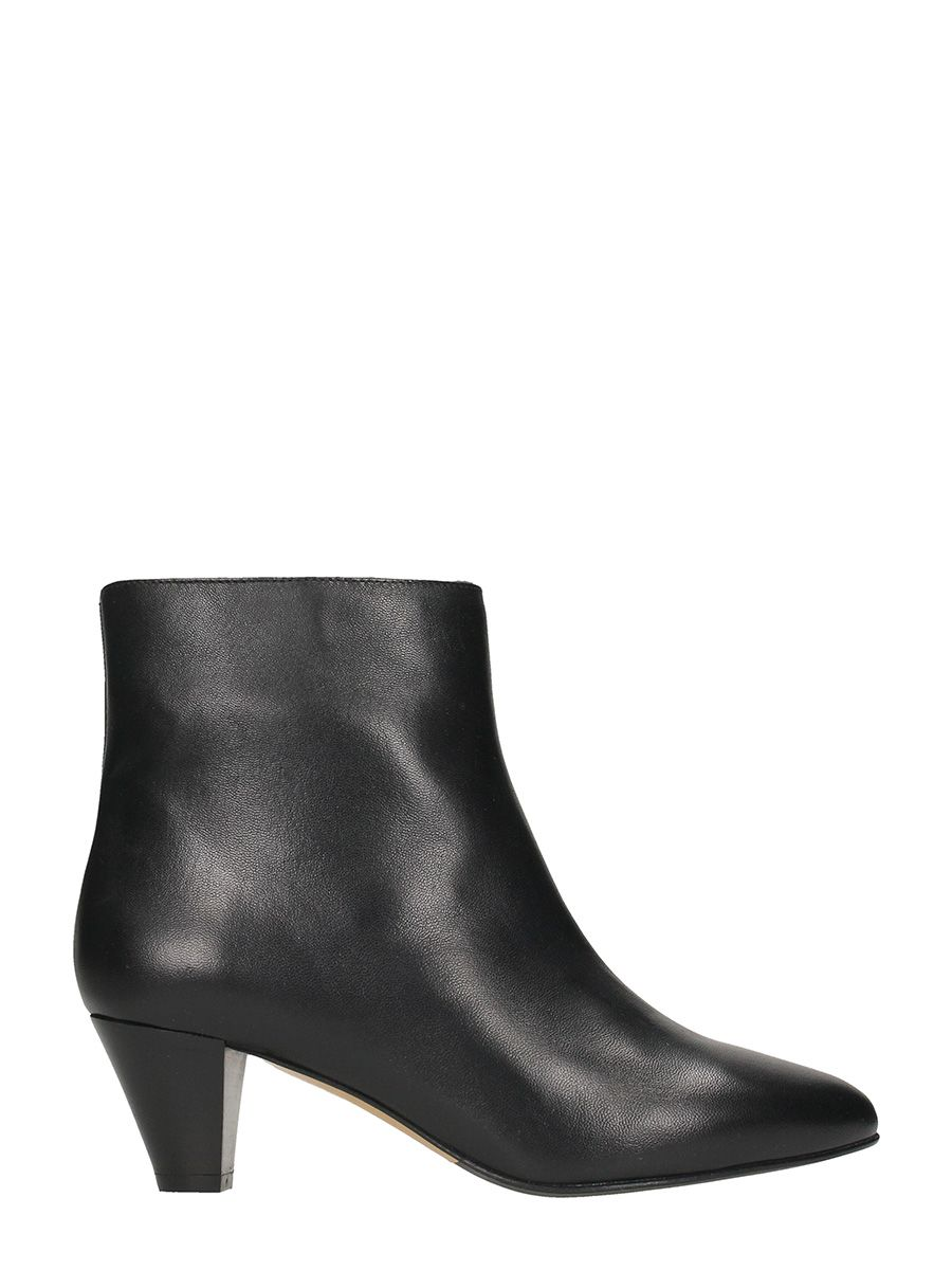 The Seller Black Leather Bootie