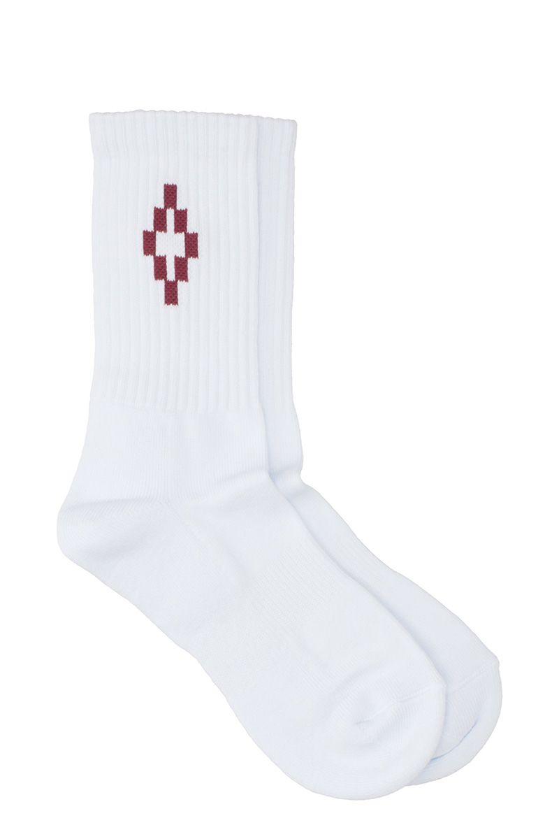 Marcelo Burlon Cruz White Cotton Socks