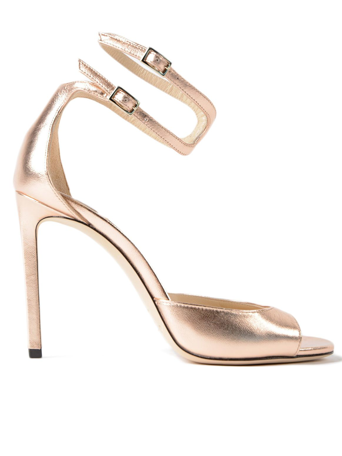 Jimmy Choo Metallic Leather Sandal