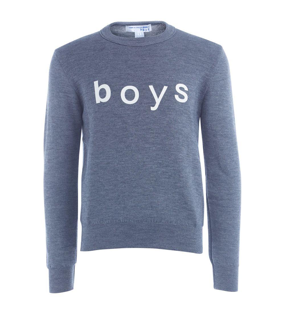 Comme Des Garçons Shirt Boys Grey Jumper