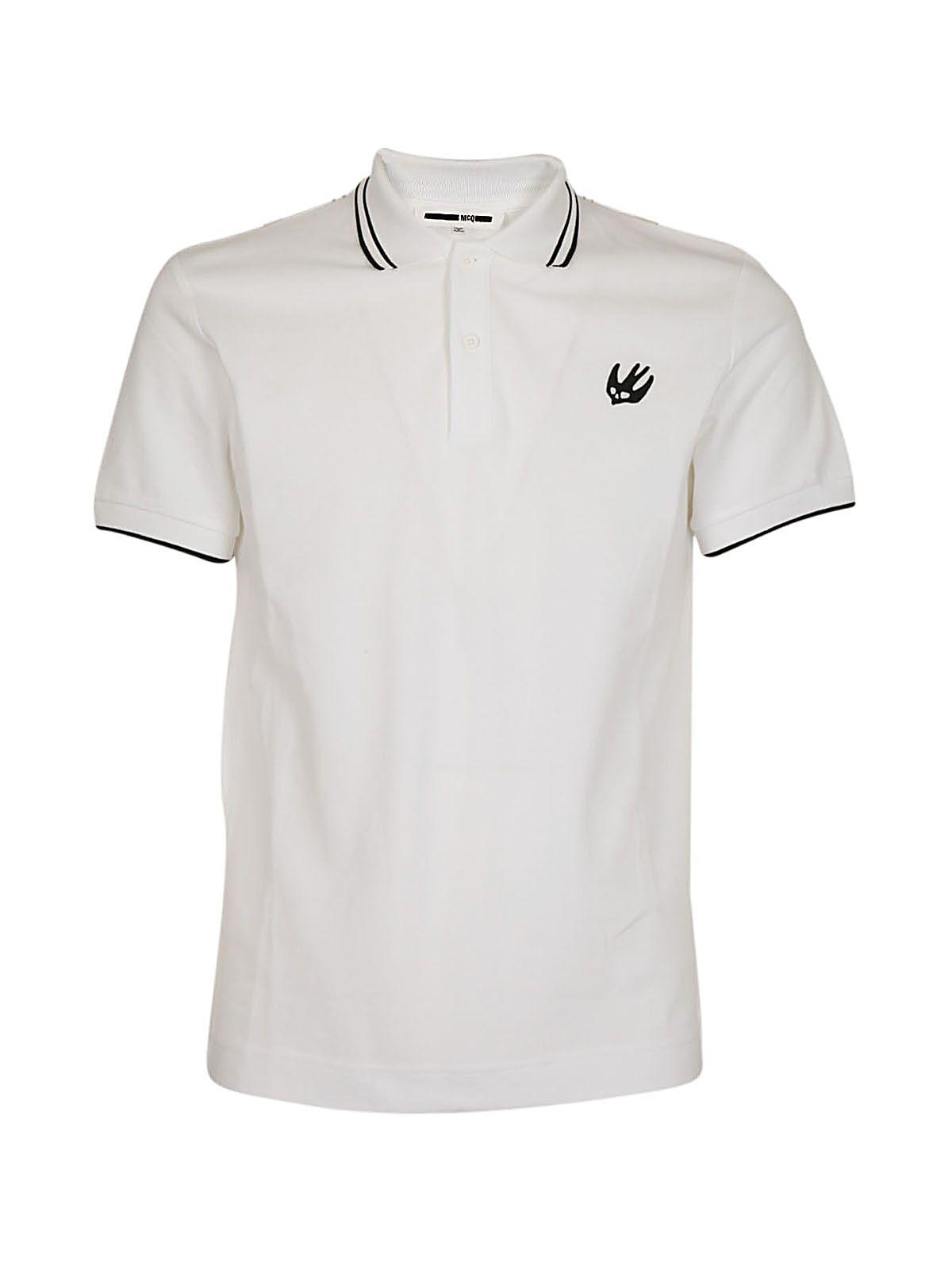 Mcq Alexander Mcqueen Swallow Logo Polo Shirt