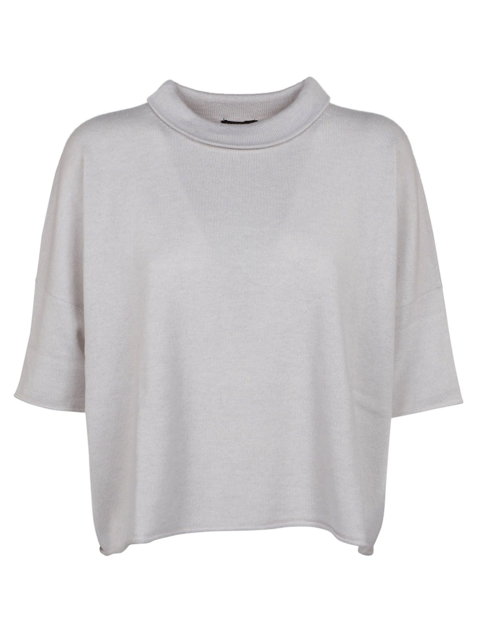 Peserico Folded Double Layered Collar Top
