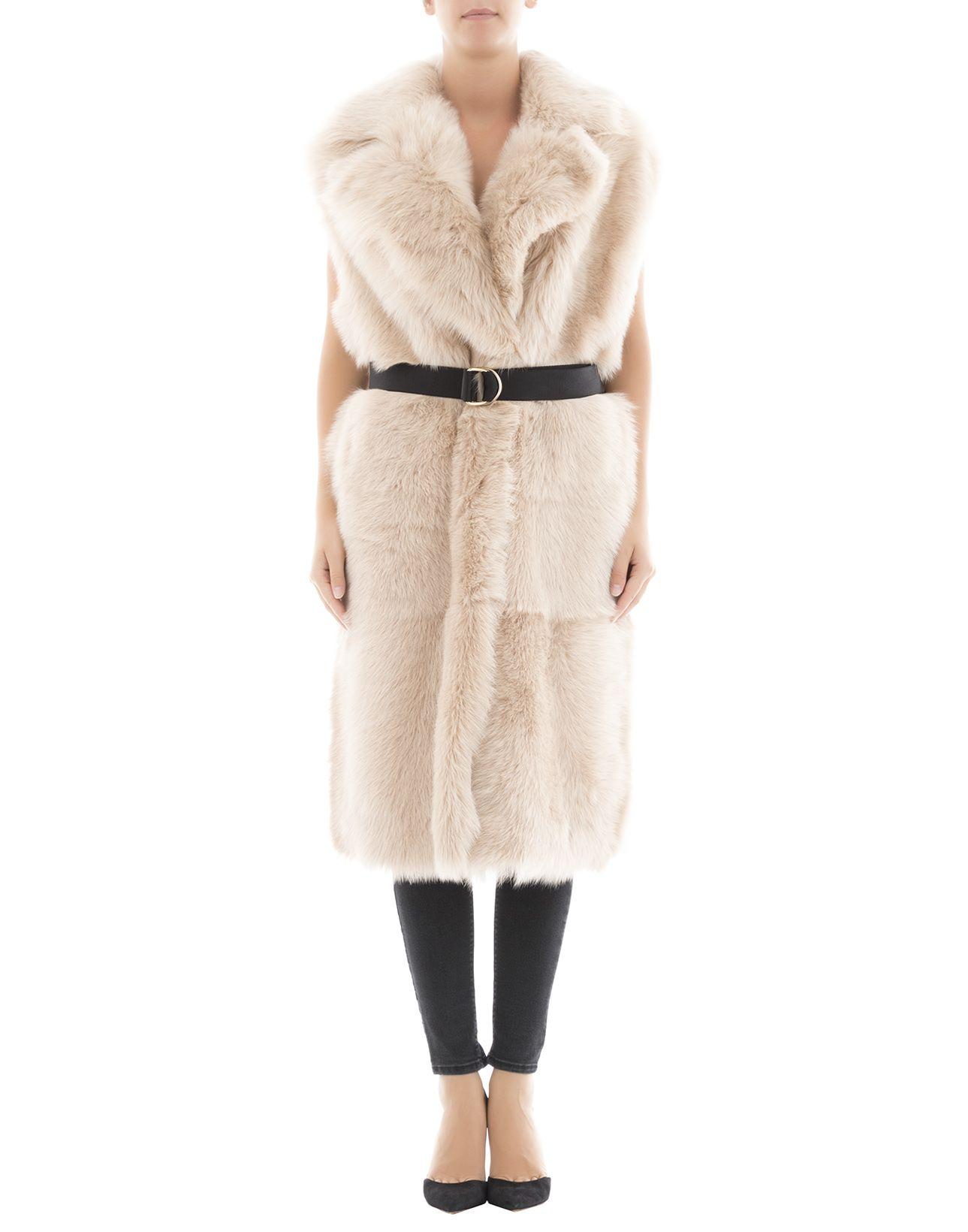 Beige Leather Coat