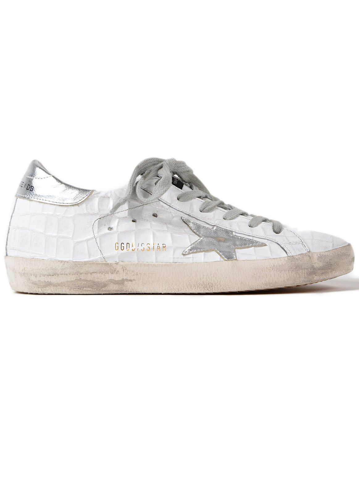 Golden Goose Sneakers Superstar Cocco-silver Star
