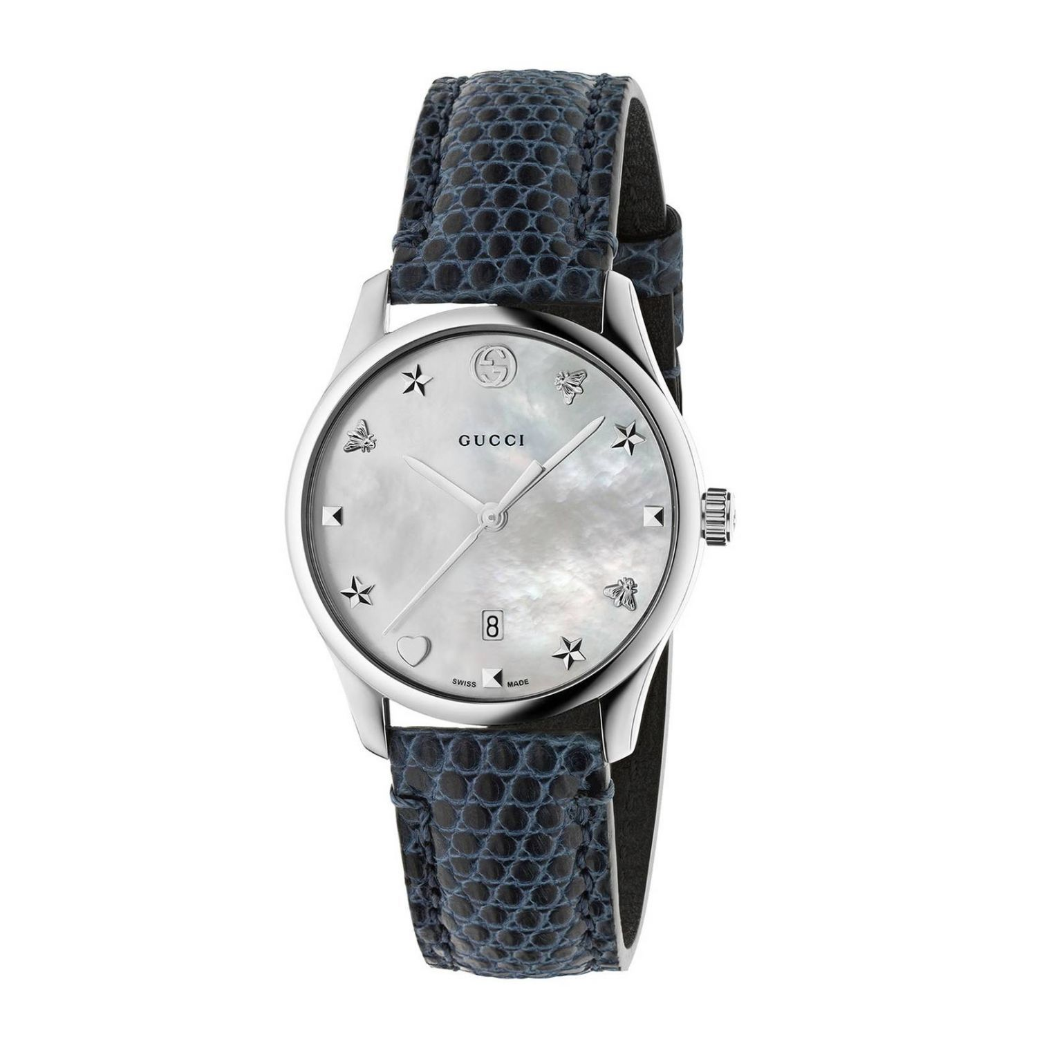 Watch G-timeless Watch Case 27 Mm With Mother-of-pearl Dial
