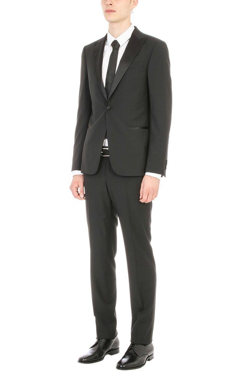 Z Zegna Smoking Black Wool Suit