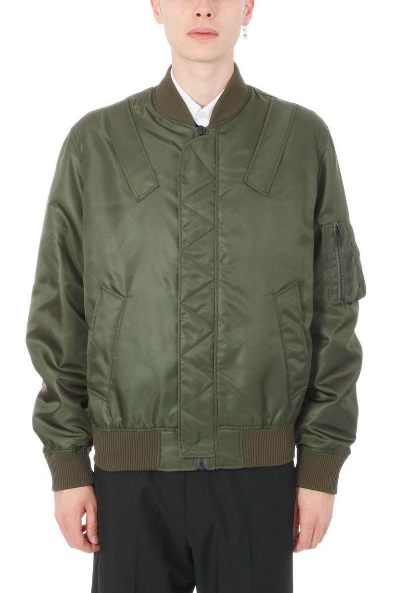 Kenzo Nylon Green Bomber Jacket