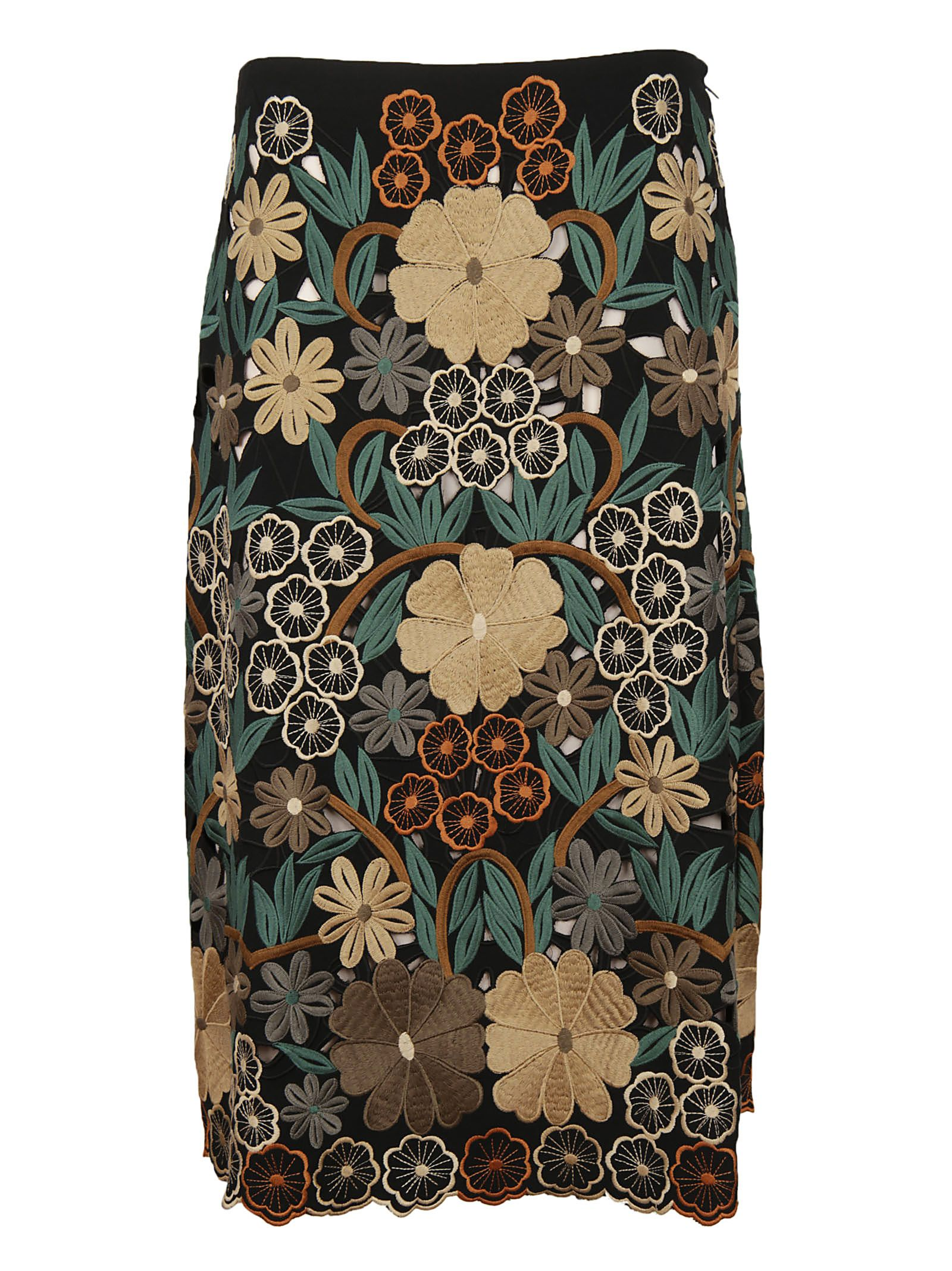 RED Valentino Red Valentino Embroidered Floral Skirt
