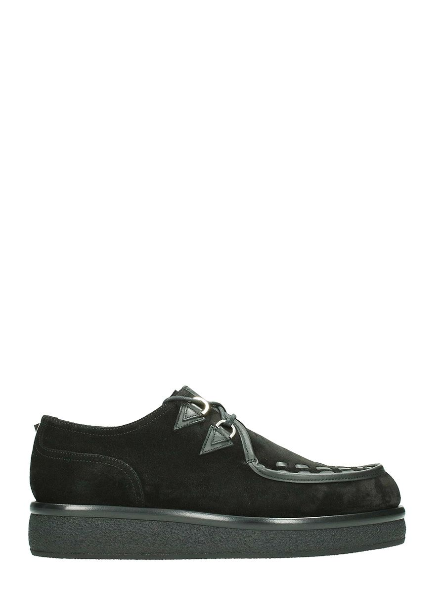 Valentino Black Creepers Lace Up Shoes
