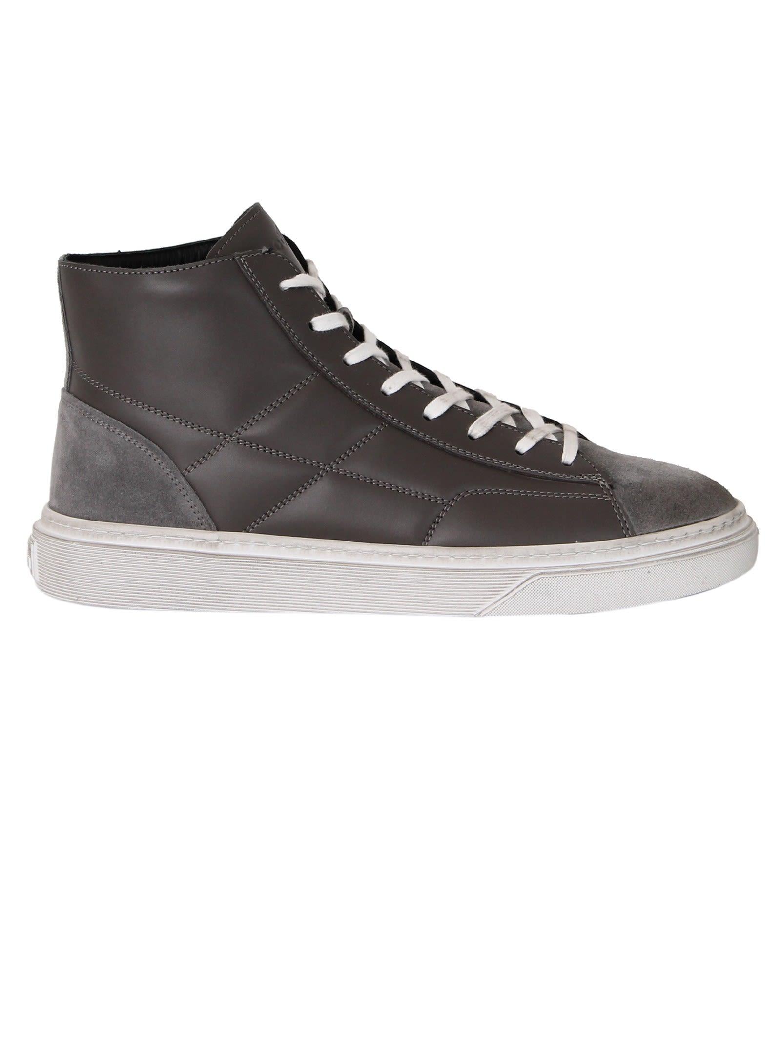 Hogan Grey H340 Hi-top Sneakers