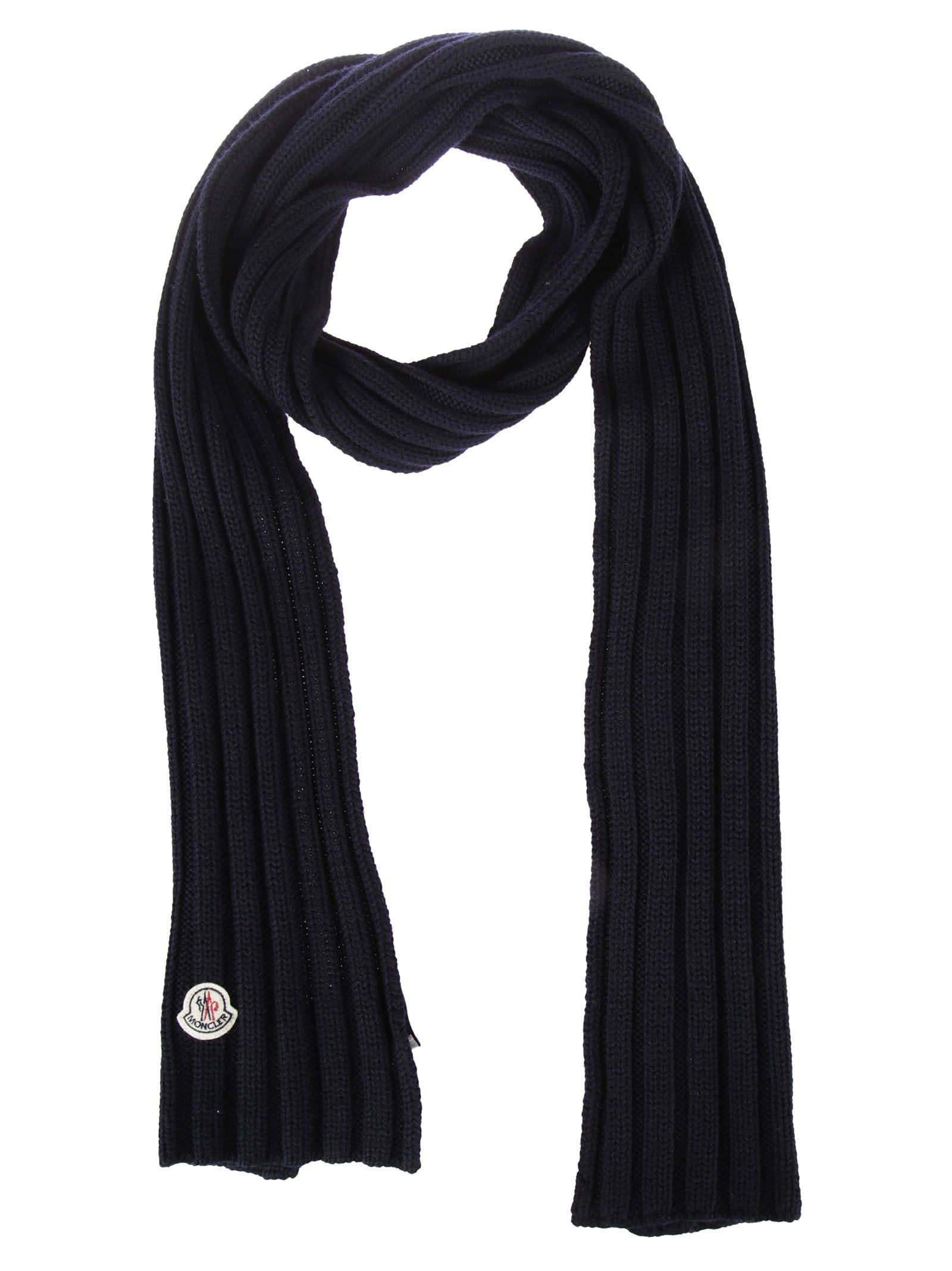 Moncler Logo Patched Scarf