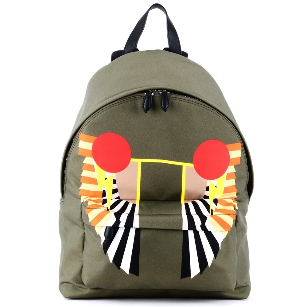 Givenchy Olive Green Wings Print Backpack