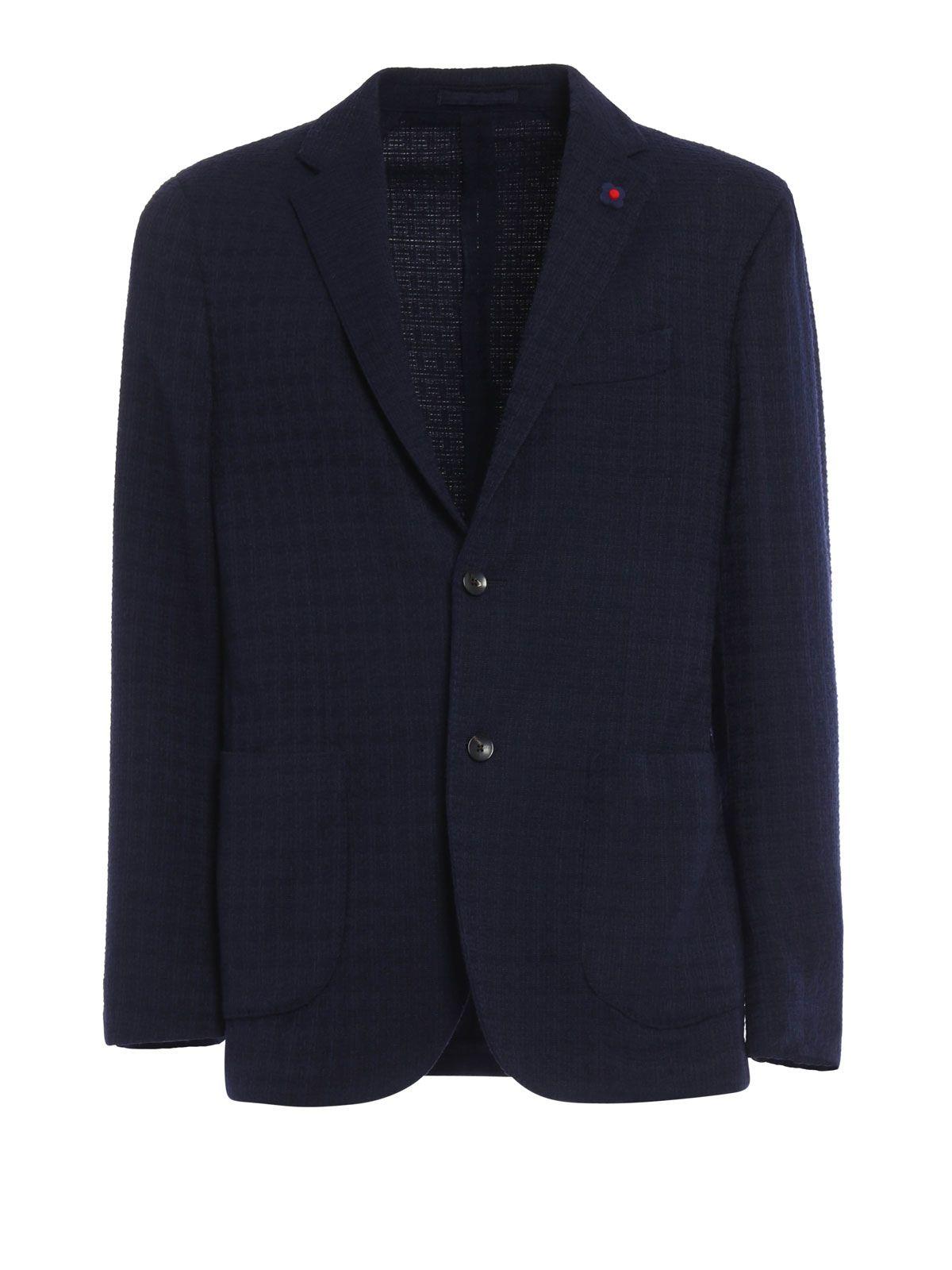 Lardini Wool Blend Unlined Blazer