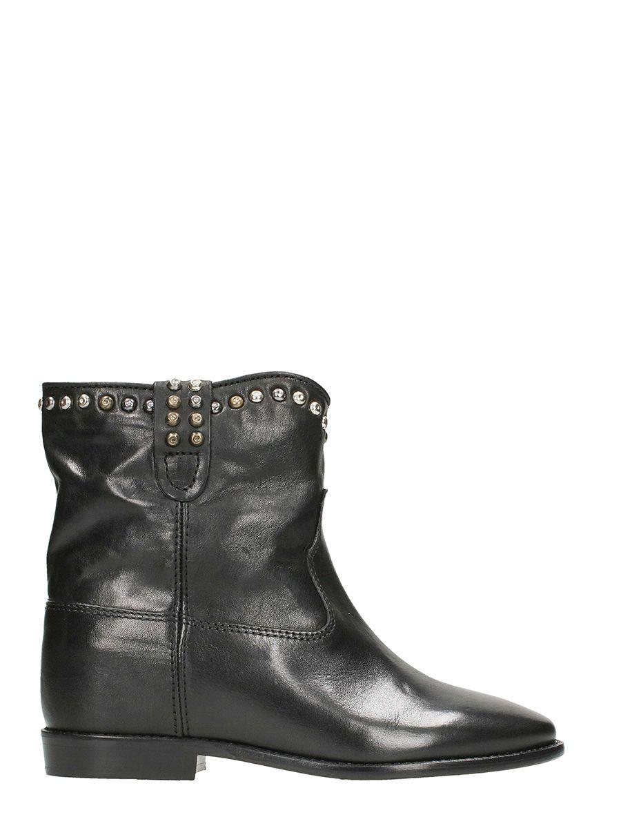 isabel marant isabel marant cluster wedge studded boots black women 39 s boots italist. Black Bedroom Furniture Sets. Home Design Ideas