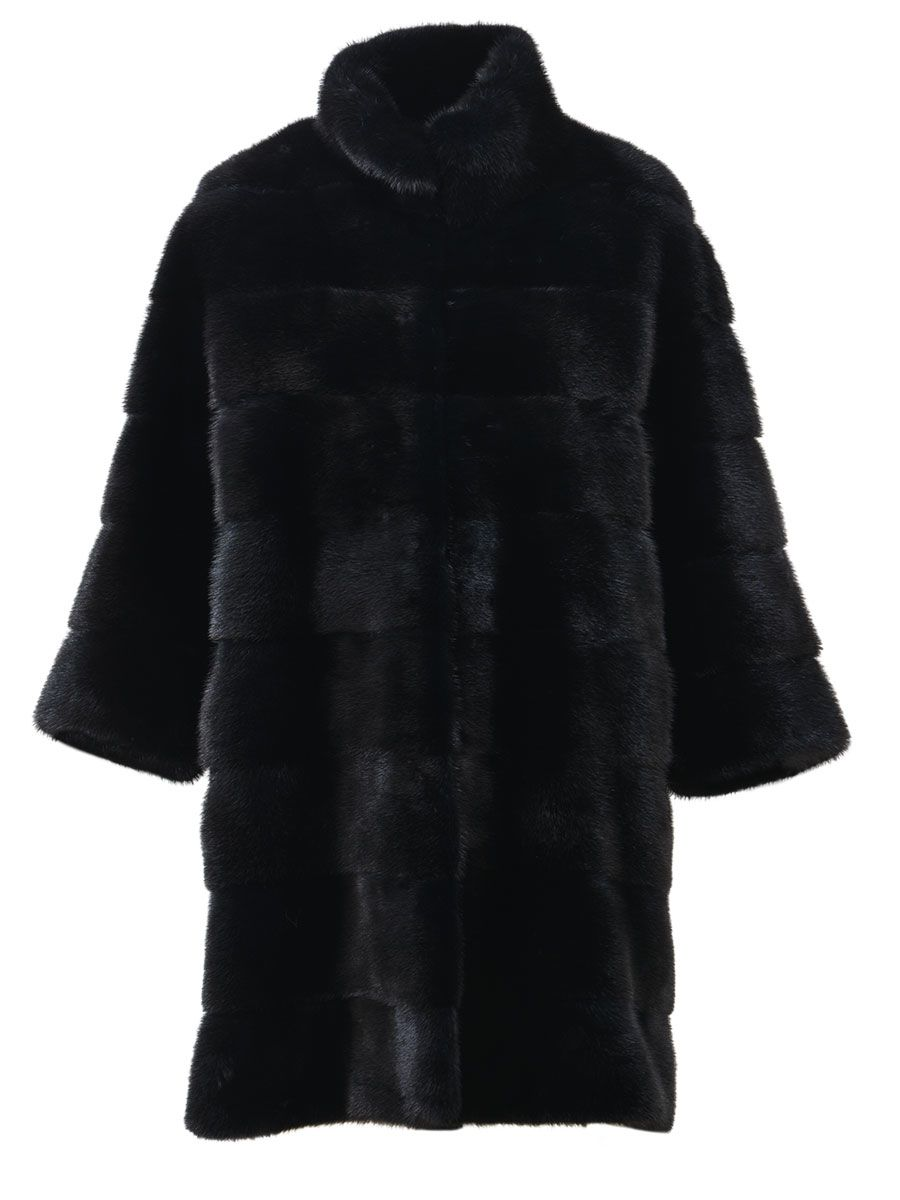 Blancha Black Mink Fur Coat