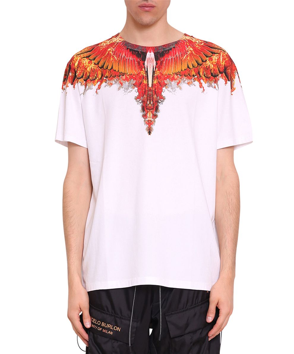 Marcelo Burlon Flame Wing Cotton T-shirt