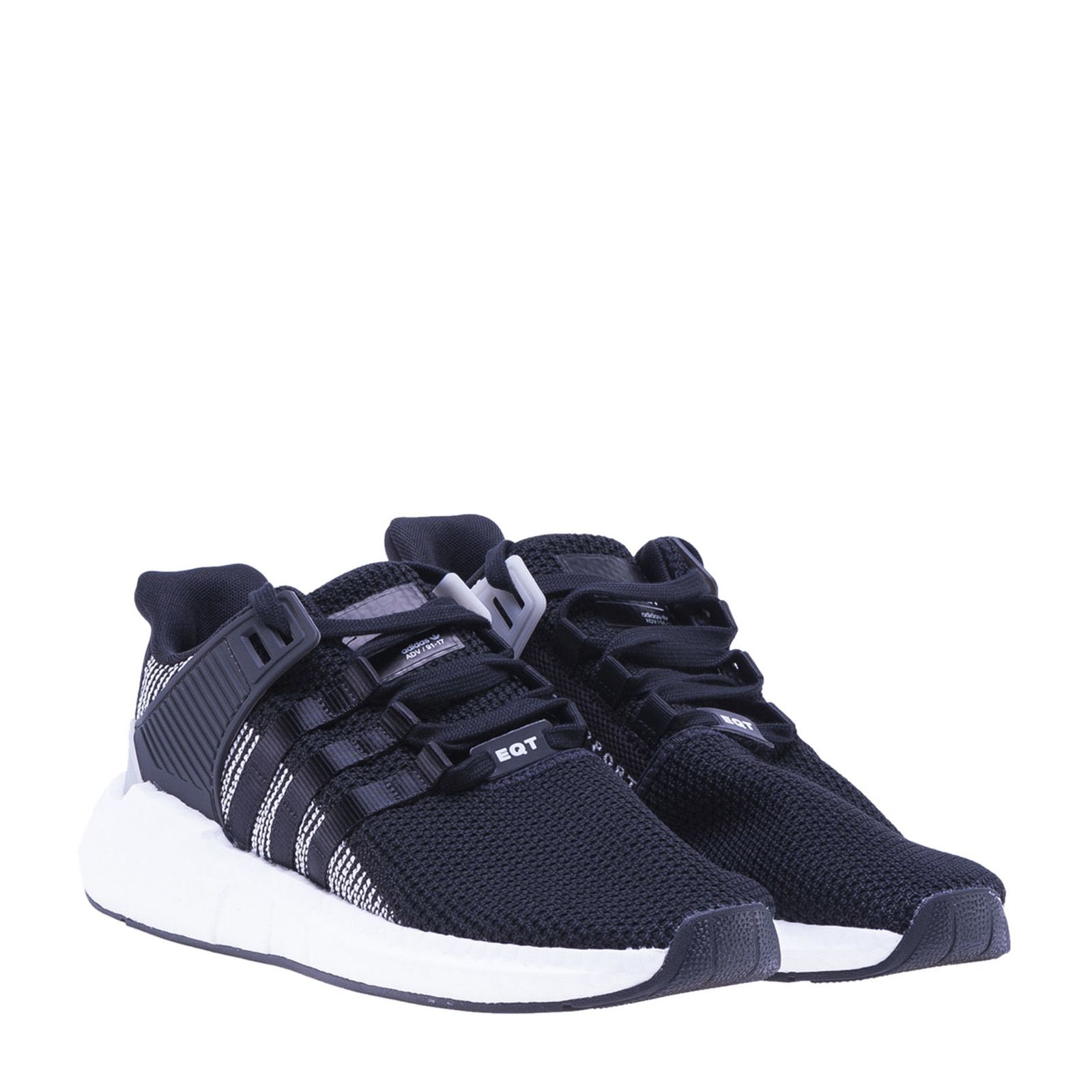 Adidas Originals Black And White Eqt Support Sneakers