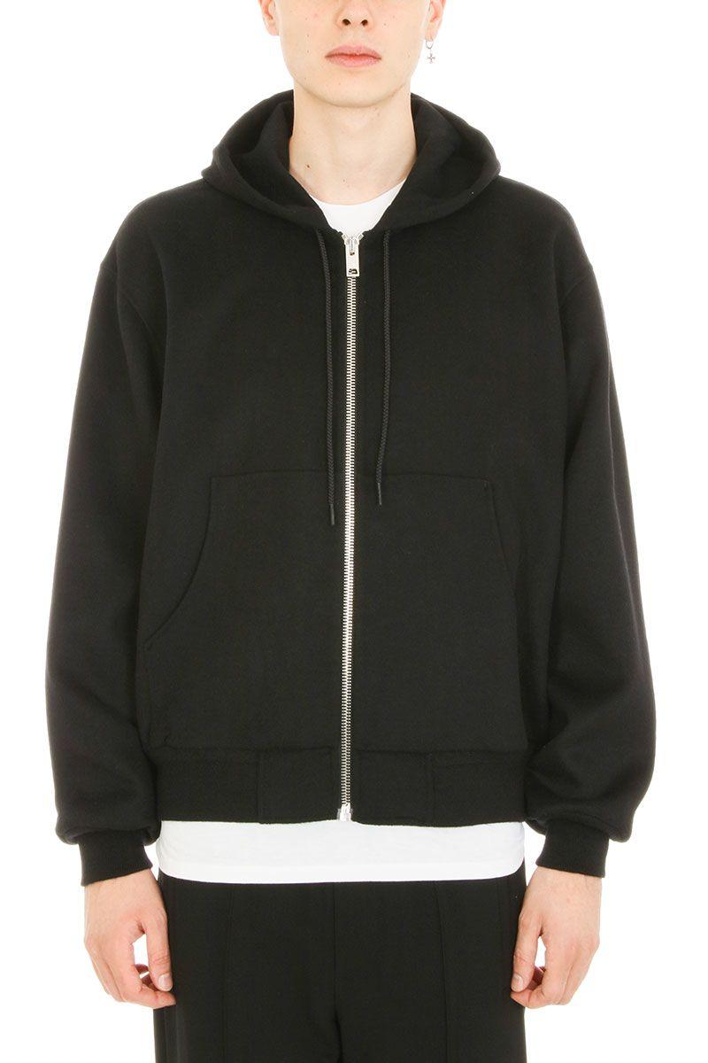 Alexander Wang Splittable Brushed Black Wool Sweatshirt 7854374
