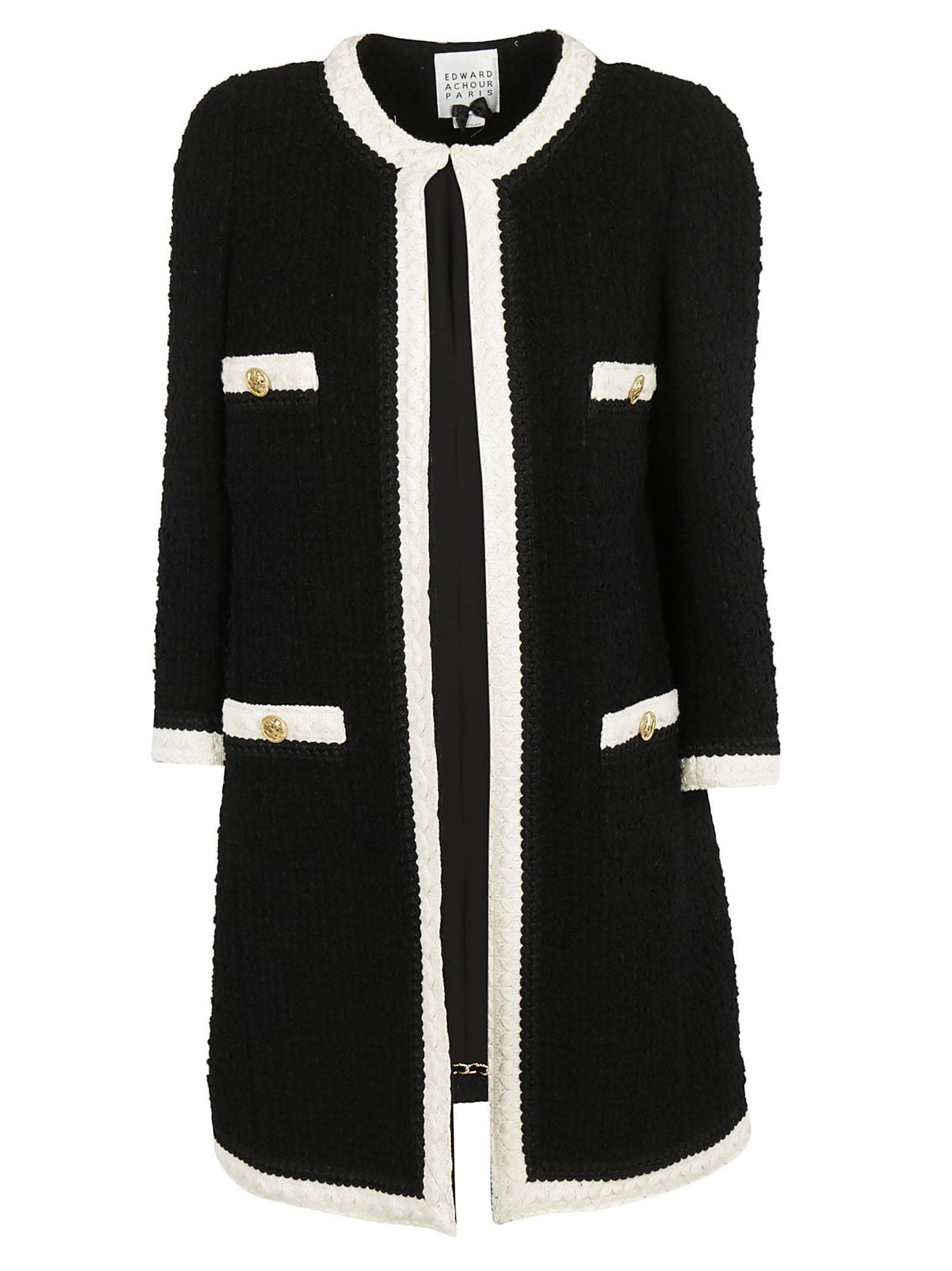 Edward Achour Button Embellished Cardi-coat