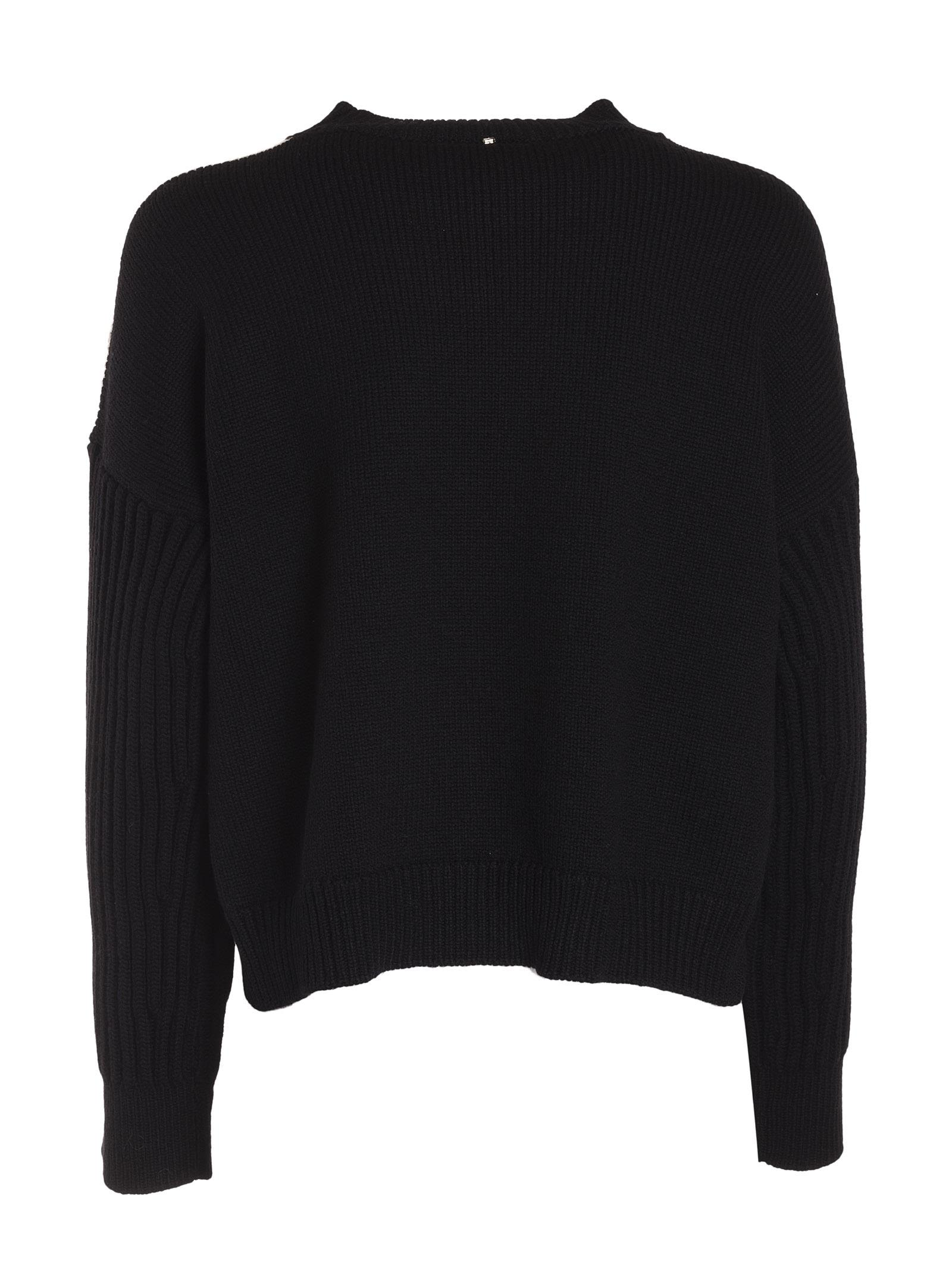 SportMax - Sportmax Knitted Sweater - Black/white, Women's ...
