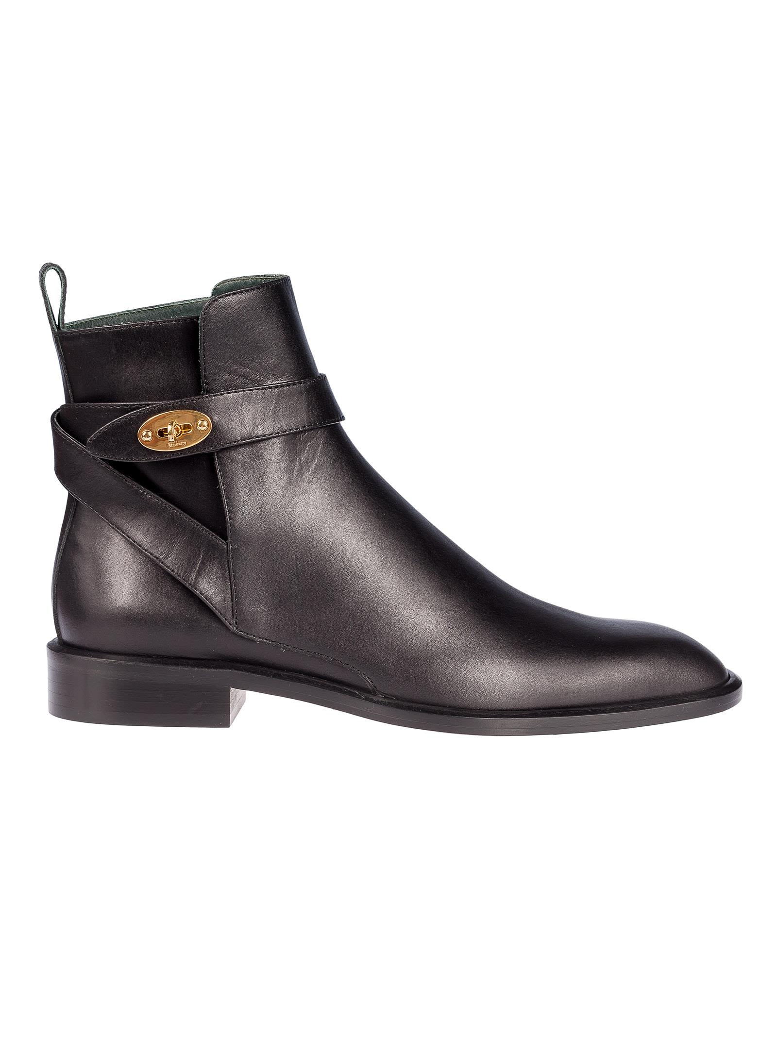 Mulberry Jodhpur Flat Ankle Boots
