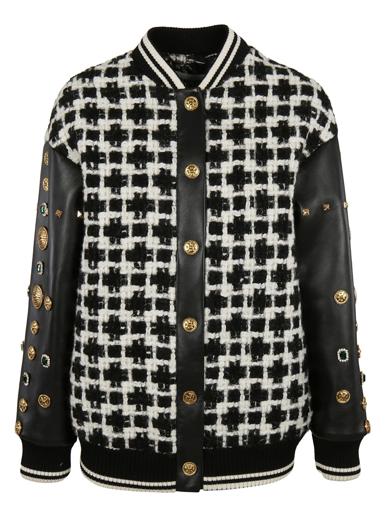 Fausto Puglisi Studded Sleeve Bomber