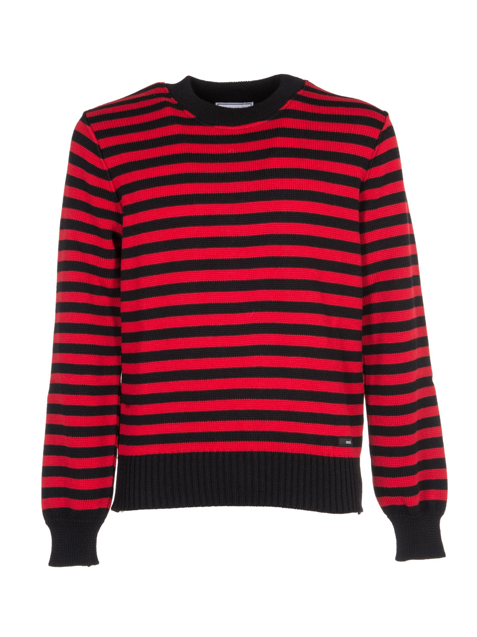 Ami Alexandre Mattiussi - Ami Alexandre Mattiussi Striped Ribbed ...