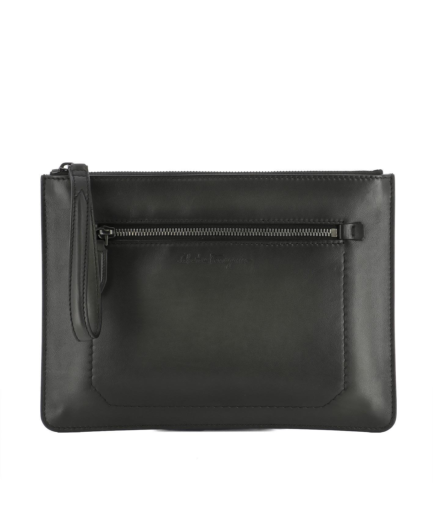 Black Leather Pochette