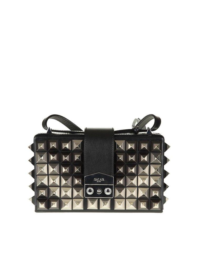 Salar Bag lou Studs Black Leather