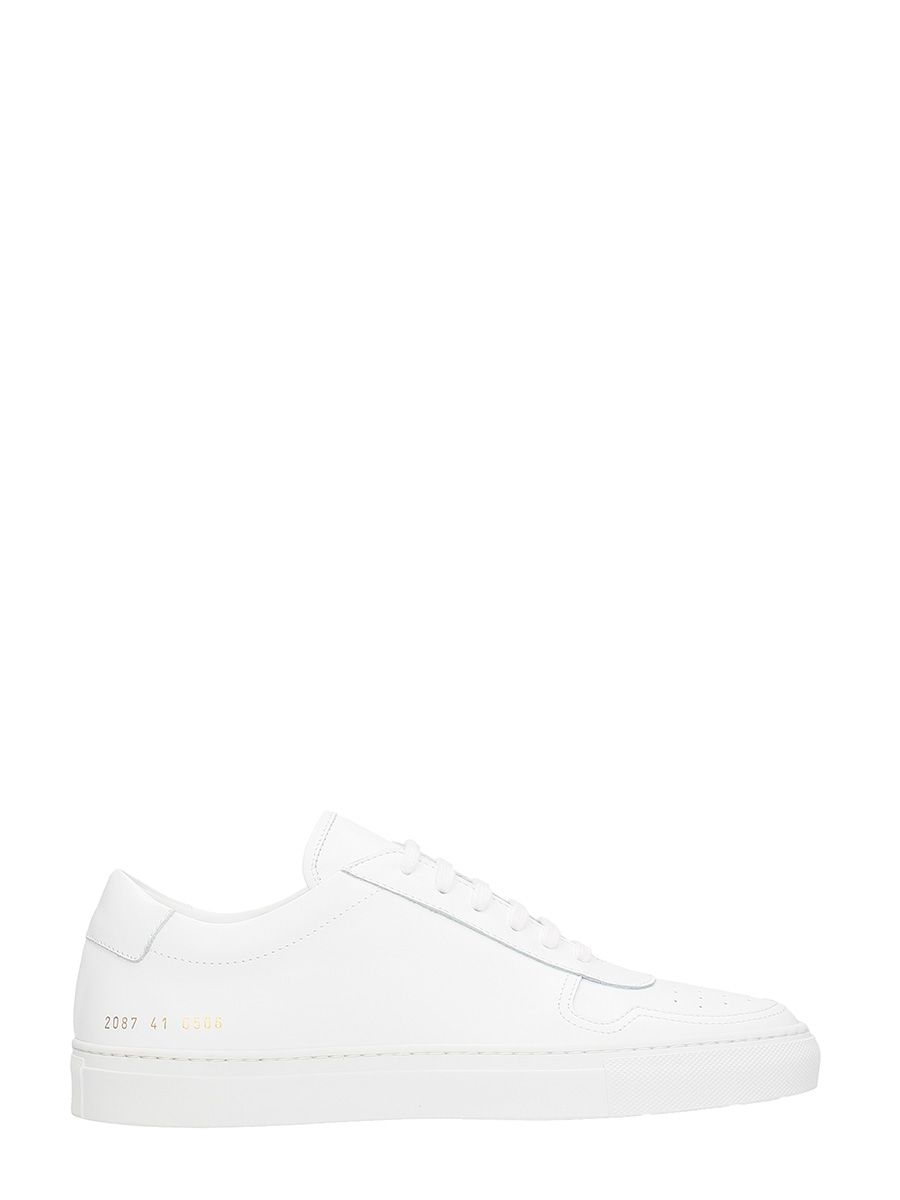 Common Projects Bball Low White Leather Sneakers