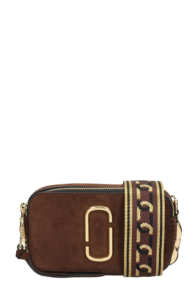 Marc Jacobs Chain Snapshot Leather Chocolate Bag