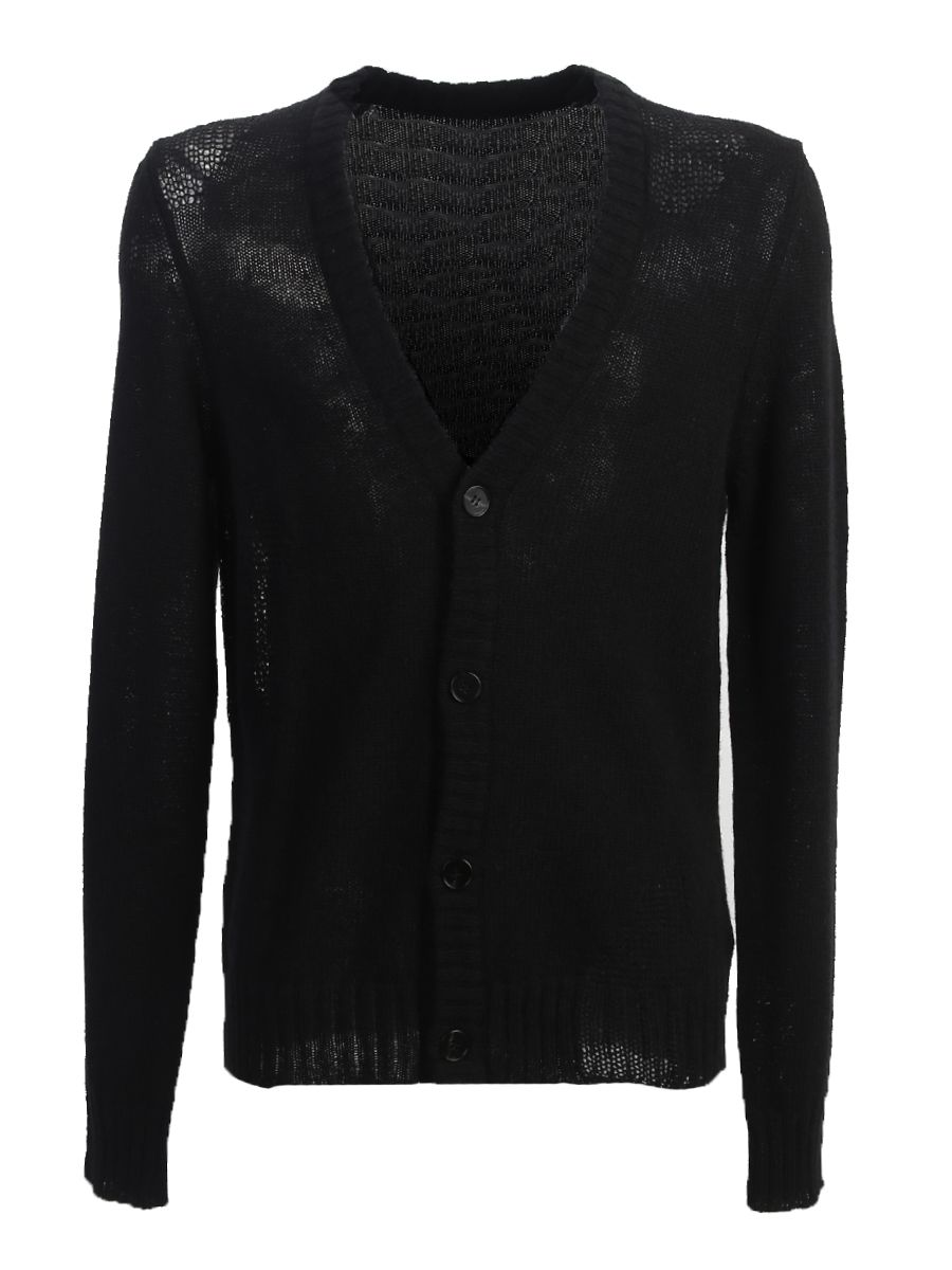 Wool Destroyed Cardigan