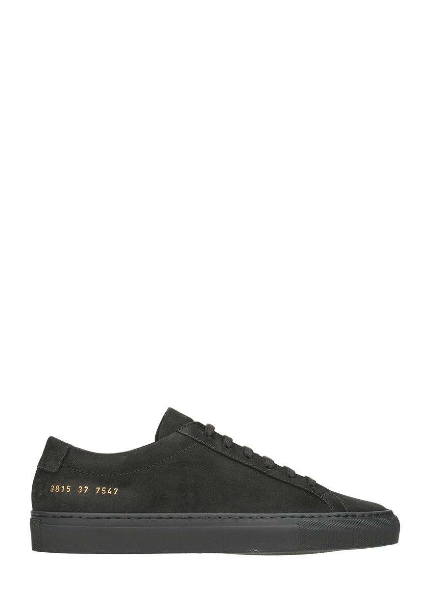 Common Projects Original Achilles Low Black Suede Sneakers